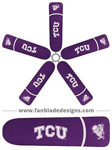 Texas christian university ceiling fan blade covers ebay image is loading texas christian university ceiling fan blade covers aloadofball Gallery