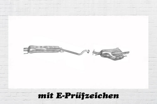 Opel Astra G CC 1.6 Auspuffanlage Auspuff Endtopf Mitteltopf