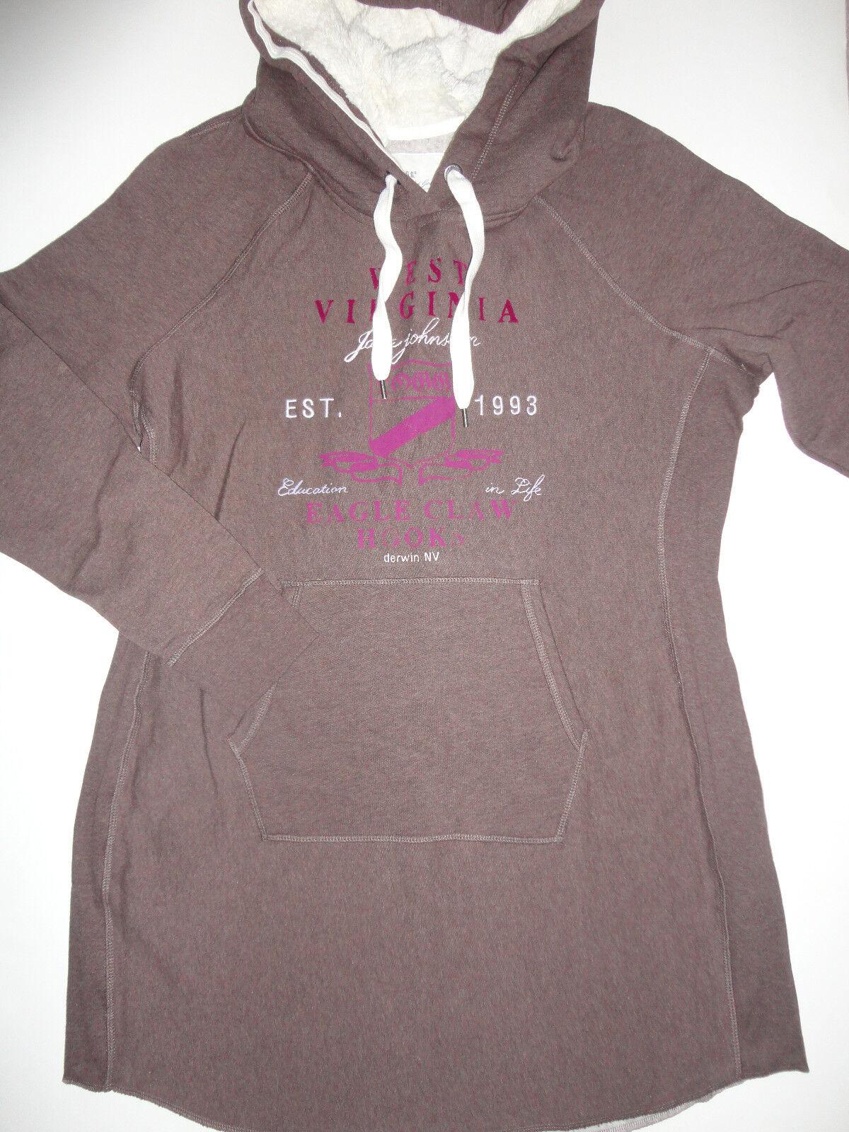 NEU H&M Sweatshirtkleid Kleid Kapuzenshirt Gr.M,Gr.XL braun zu Hose Leggings