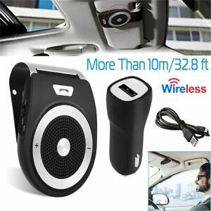 Wireless-Handsfree-Auto-Car-Speakerphone-Kit-Speaker-Phone-Visor-Clip