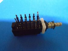 Teac X-7R X-10R X-20R X-1000R Switch Push 4PDT 12 Pin P/N 5134095000 Used