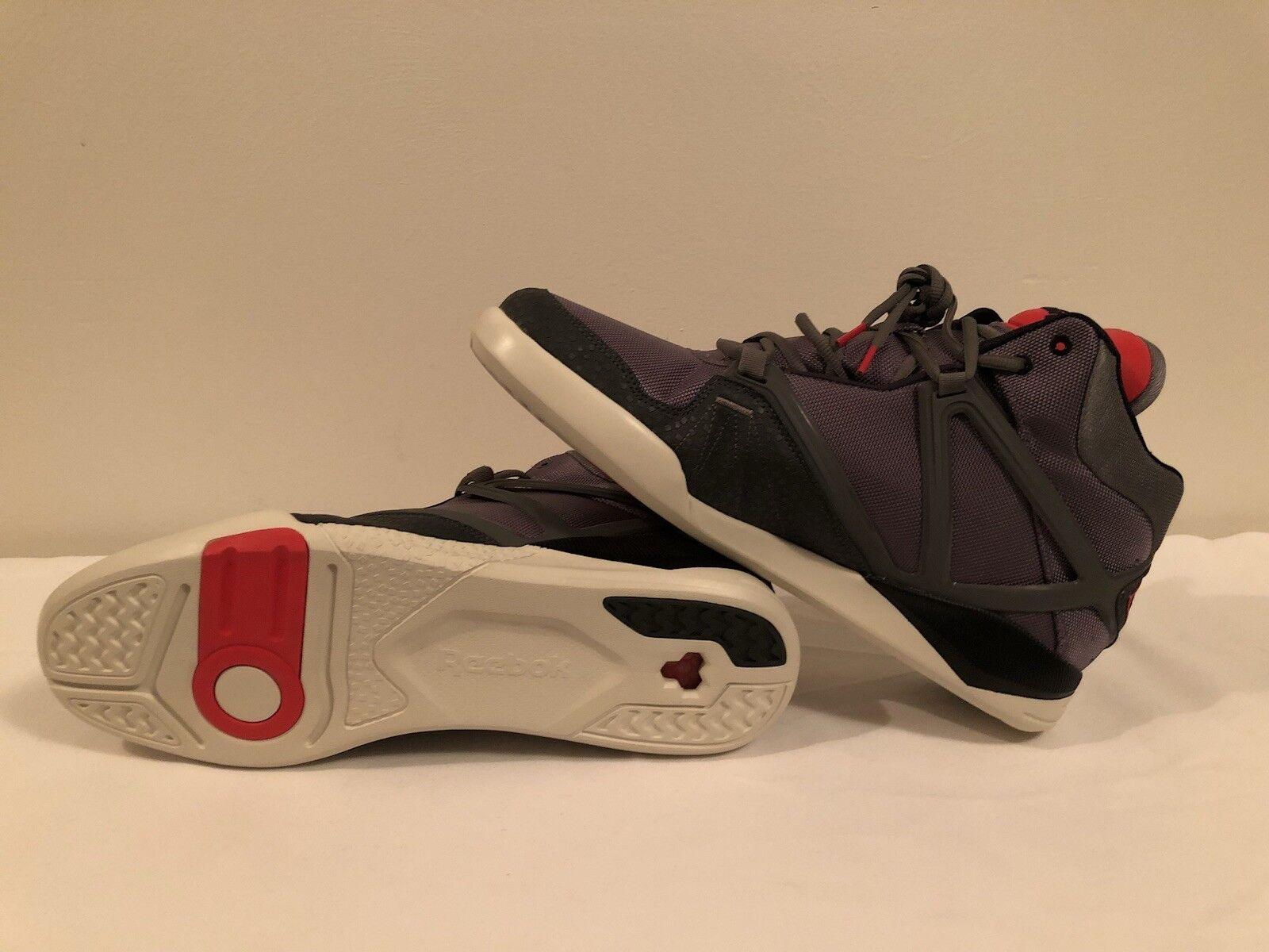 Men's Reebok Pump Omni Lite Grey/Red/Black Size 13 New & Real