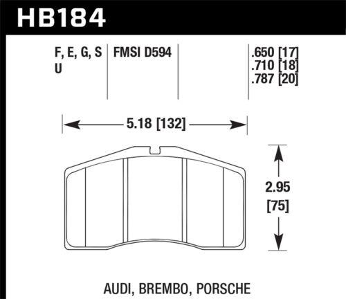 Disc Brake Pad Set-HPS Disc Brake Pad Front Hawk Perf HB184F.650