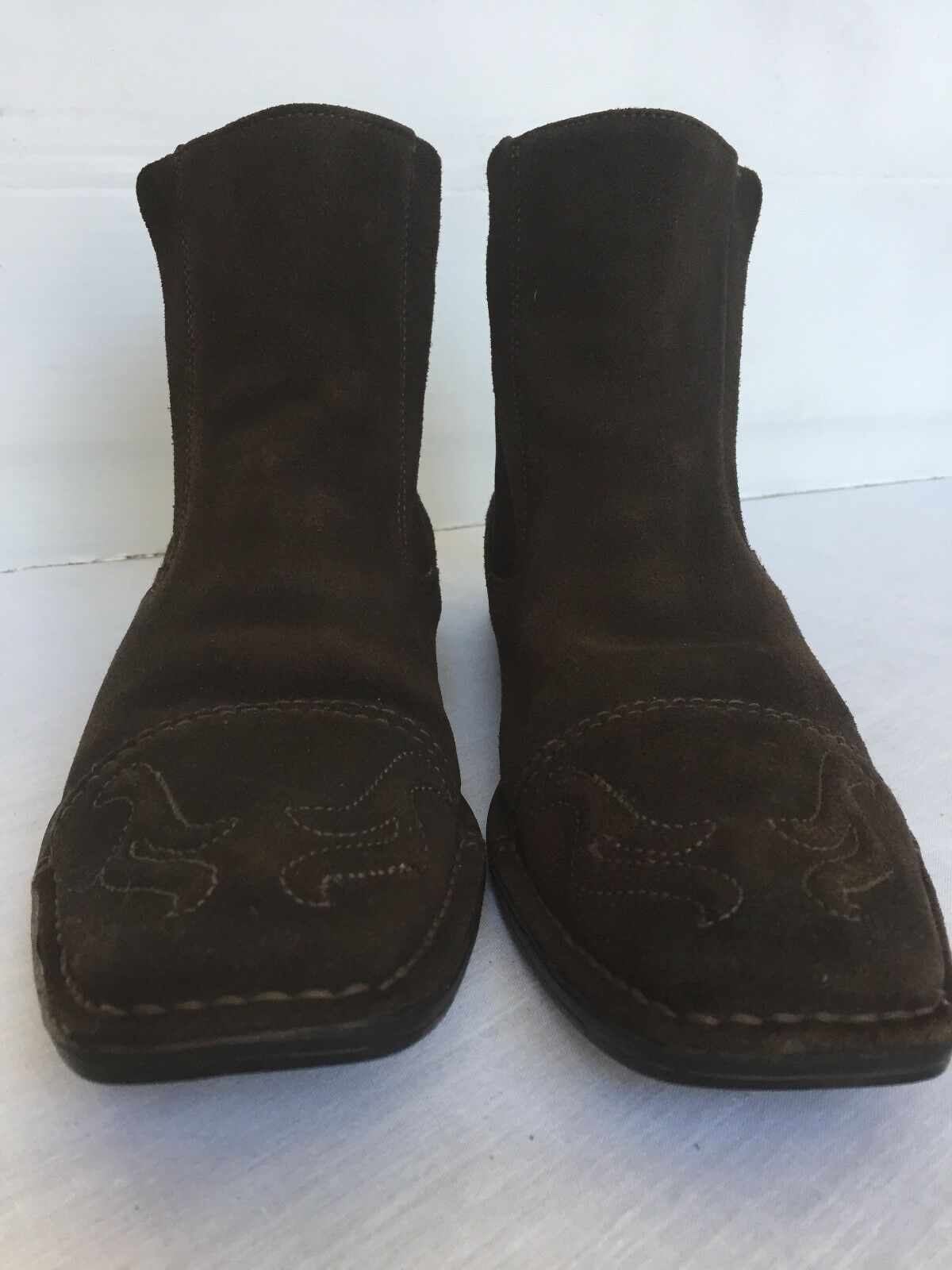 GUESS by Size MARCIANO Men's Dark Tanned Suede Leather Boots Size by 9 M US 916da6