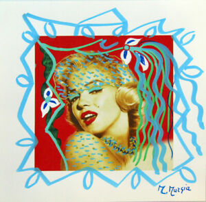 MARIA-MURGIA-034-Marilyn-Monroe-034-CM-30X30-pezzo-unico-dipinto-su-cartoncino