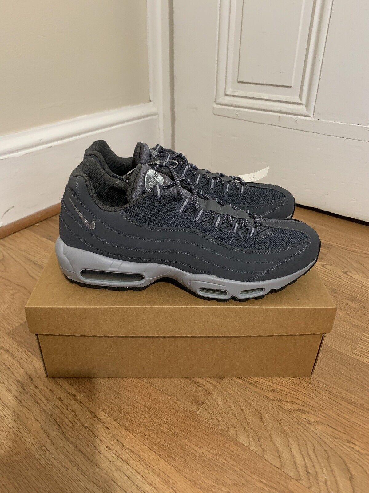 new concept 96b66 5ea21 Nike Air Max  95 Dark Wolf Grey Black Black Black shoes 609048-088 Mens