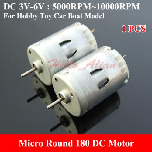 Micro Mini Round 180 DC Motor 3V 5V 6V 10000RPM High Speed RC Car Toy Boat Motor