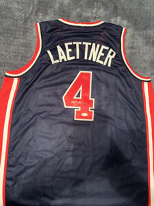 78cc41ef5a5 Image is loading Christian-Laettner-Signed-Team-USA-Basketball-Custom-Jersey -