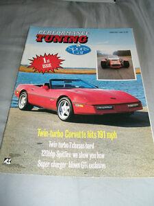 Details about Performance Tuning & Sports Car Feb 1988 Corvette Twin turbo,  Corolla GTi vs GT
