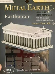 Metal Earth Parthenon Ancient Greece Steel Model Kit great fun to do collectible