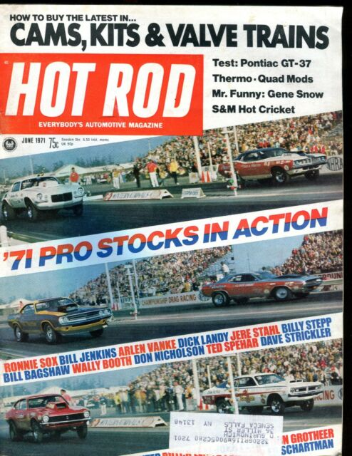Hot Rod Magazine June 1971 Pro Stocks VG w/ML 011617jhe