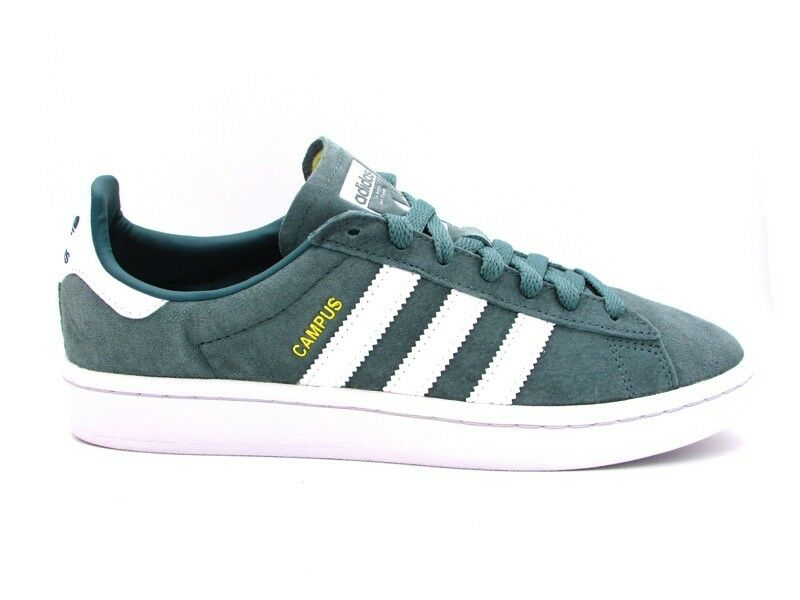 ADIDAS CAMPUS SNEAKERS GREEN WHITE B37822