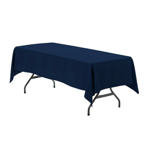 Solid Color Polyester Tablecloths Rectangle Table Cloth For Party Home Decor