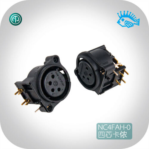 1//5pcs NEUTRIK NC4FAH-0 four core Cannon XLR PCB headphone output female socket
