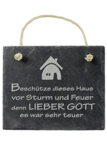 Slate Sign Bless this House before storm and fire.. House Blessing