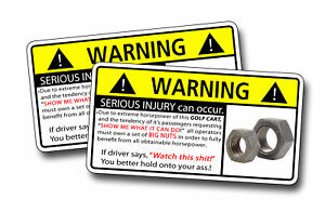 Funny Golf Cart BIG BUTS Warning sticker decal EZ CLUB | eBay on funny utv stickers, funny bicycle stickers, funny skateboard stickers, funny jet ski stickers, funny offroad stickers, funny motor scooter stickers, funny tool box stickers, funny travel trailer stickers, funny gmc stickers, funny toyota stickers, funny fishing stickers, funny automotive stickers, funny hummer stickers, funny honda stickers, funny audi stickers, funny mini cooper stickers, funny wheelchair stickers, funny john deere tractor stickers, funny snowmobile stickers, funny lawn mower stickers,