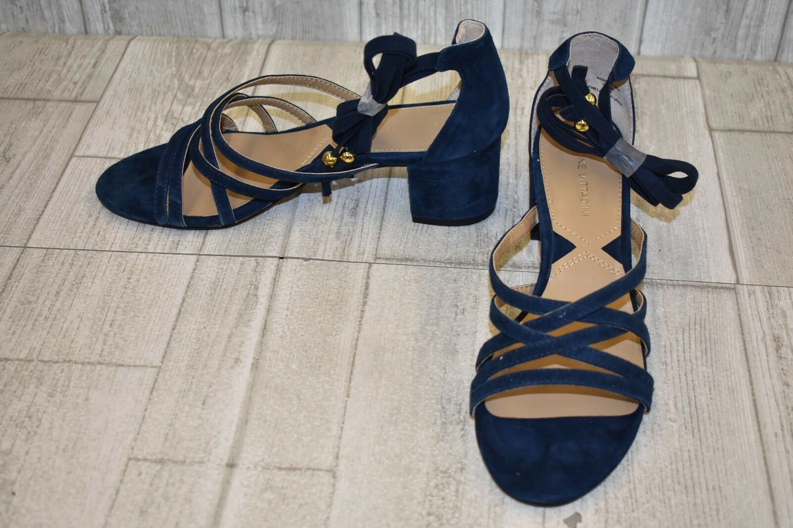 Adrienne Vittadini Alesia Dress Sandal - Women's Size 7.5M - Navy
