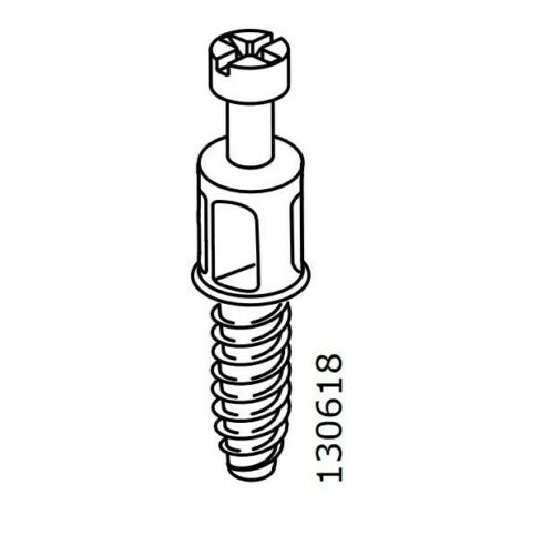 Korpusverbinder Schraubdübel IKEA Ersatzteile Nr 130618