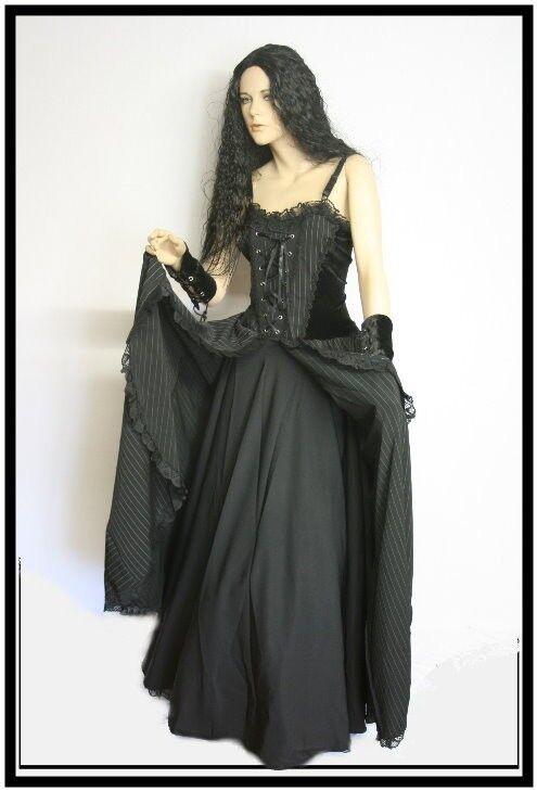 gothique de style médiéval robe robe à CORSAGE CORSAGE CORSAGE JUPE DOUBLE AMBRE 07e493