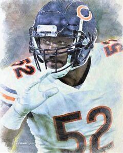 more photos 42805 c0254 Details about Khalil Mack ~ Chicago Bears ProBowl Linebacker Var Sizes  Pastel Style Art Print