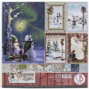 """Ciao Bella Scrapbooking Paper Pad 12""""X12"""" Double-Sided Papers Northern Lights"""