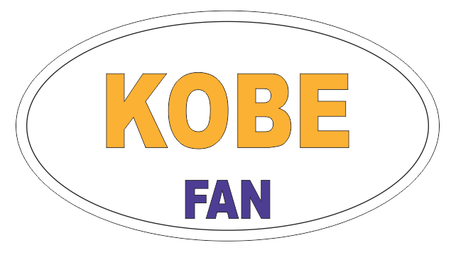 KOBE BRYANT FAN Oval Bumper Sticker or Helmet Sticker D7178