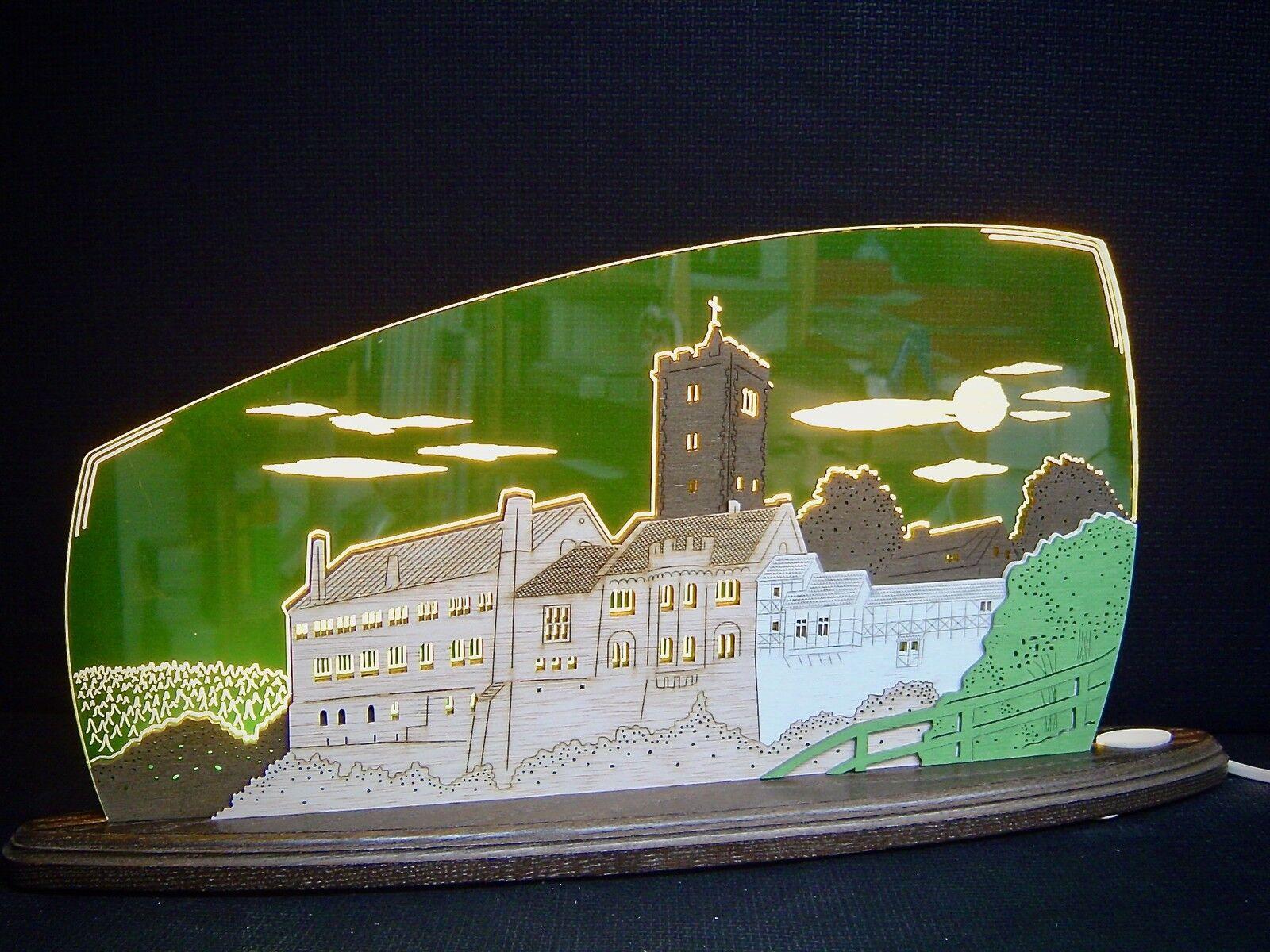 3d Lumières DEL Arc Plexiglas Schwibbogen avec bois Wartburg 47x22 cm 10706