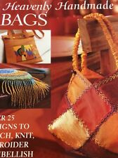 Heavenly Handmade Bags New Book 25 Designs Knit Stitch Embroider DIY Craft Book