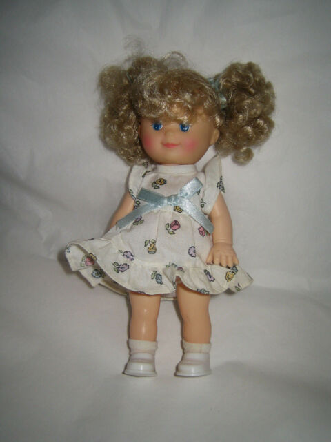 1993 CITITOY Doll - Blonde Hair Blue Eyes - Rubber - Jointed - 7 1/2