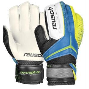 Reusch Kids Goalkeeper Ceptor Gloves Ocean Blue/Saftey Yellow  3572871