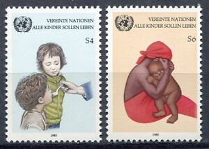 19341-UNITED-NATIONS-Vienna-1985-MNH-Children