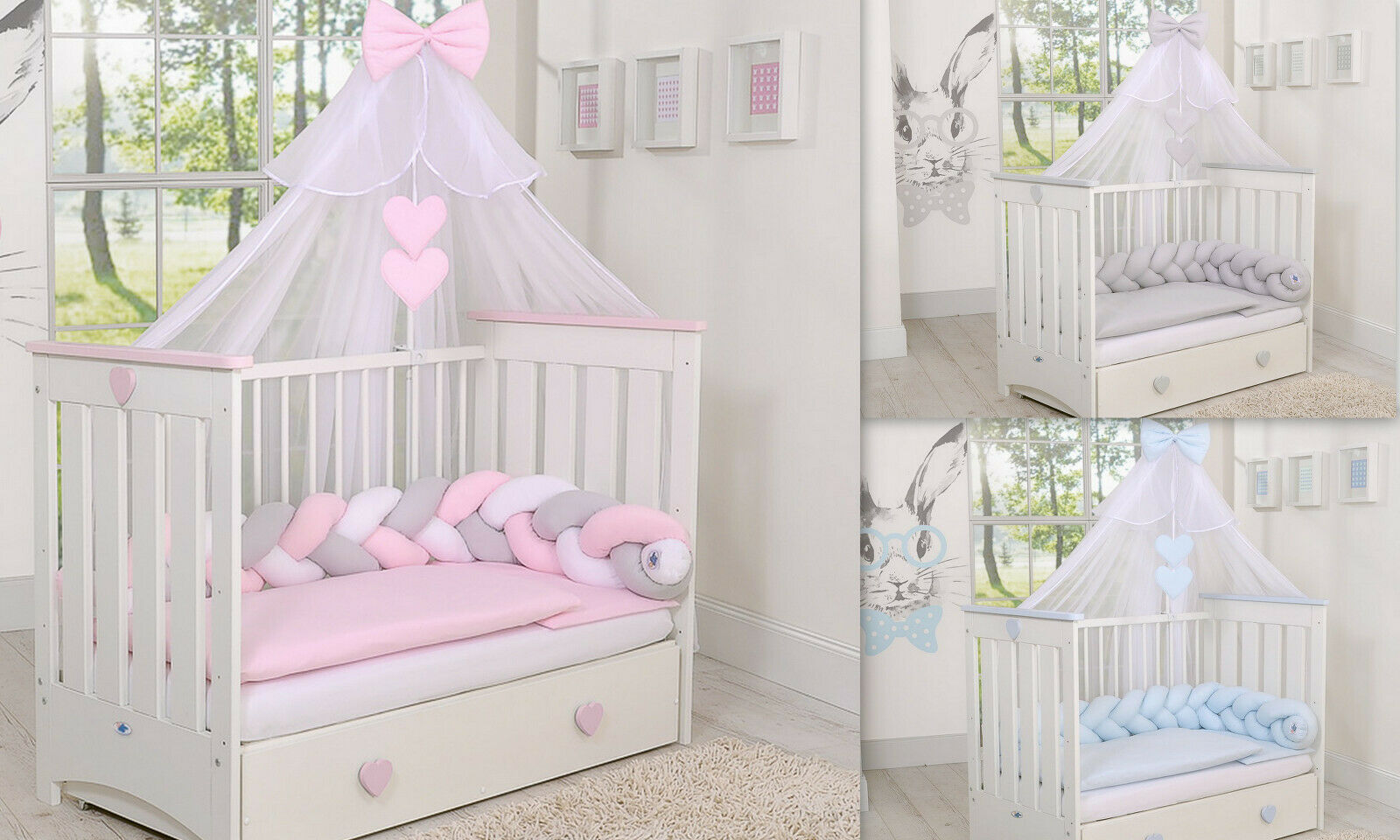 STUNNING  CANOPY  DRAPE  MOSQUITO NET  -BIG 470cm WIDTH 4 baby Cot or Cot bed