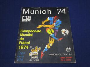 Panini Album WM 1974 Munich München 74, komplett/complete, Ediciones Volcano v.