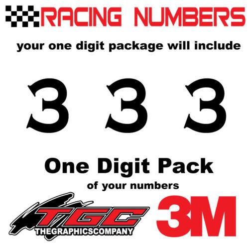 Racing Numbers Vinyl Decals Stickers boat car BMX bike off road  sprint quad COP
