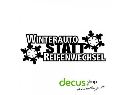 Winterauto au lieu de pneus changement L 2557 13x5 cm //// sticker JDM Autocollant frontsch