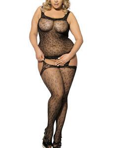 stockings size plus body women Fishnet