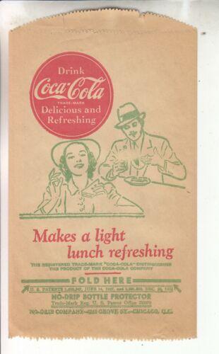 1944 COCA-COLA DRI SERVER OR NO DRIP NOS  MINT  MAKE A LIGHT LUNCH REFRESHING