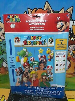 Super Mario Bros Scene Setter Wall Decoration Photo Prop Party
