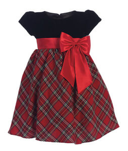 Toddler Christmas Dress.Details About New Black Red Plaid Flower Girls Dress Baby Toddler Kids Christmas Wedding 510