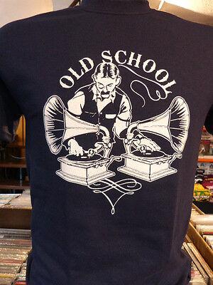 """""""OLD SCHOOL"""" T-SHIRT grammofono vinile collezionismo vinilmania vintage lp"""
