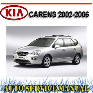 kia carens 2002 2006 repair service manual