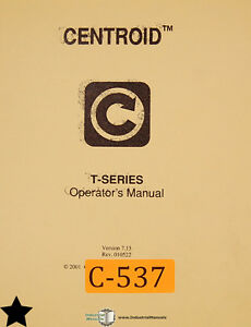 centroid t series control system mastercam 386 lathe operations rh ebay com Operations Manual Examples Operations Manual Template