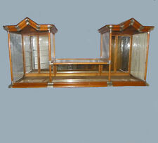 Antique Country Store Oak Double Tower Display Show Case