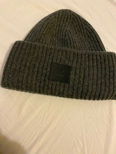 Rib knit beanie Acne Studios hat 100% wool unisex