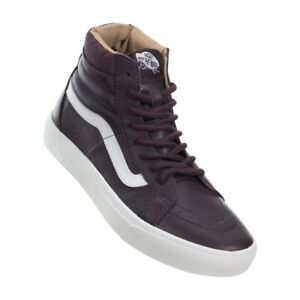 Vans SK8 HI CUP Leather Iron Brown White Women s Shoes 6 ... 6b111cd6a3e6