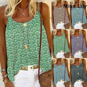 Womens-Tops-Strappy-Beach-Blouse-Sleeveless-Vest-Camisole-Tank-Ladies-Holiday