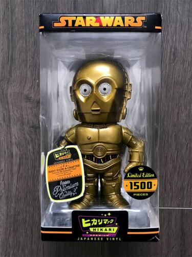 HIKARI PREMIUM JAPANESE VINYL GOLD C-3PO MIB!! LE 1500