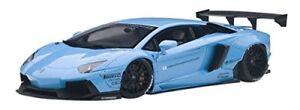 AUTOart 1/18 Liberty Walk LB-Works Lamborghini Aventador Bleu ciel 79107 EMS avec t