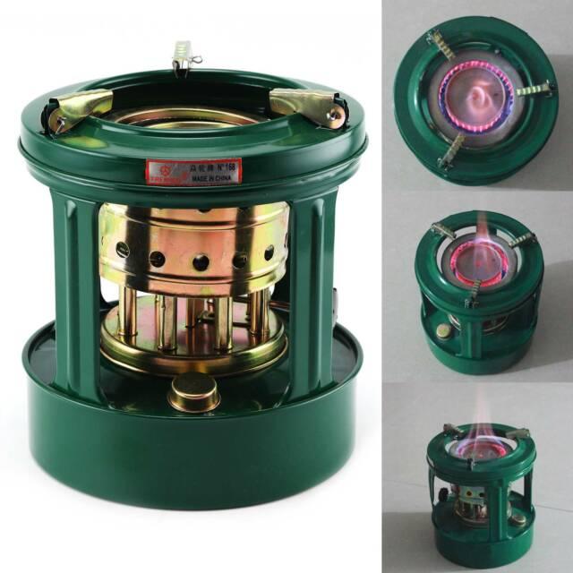 Handy Outdoor Pocket 8 Wicks Kerosene Stove Burner Camping Oil Heaters BBQ Mini