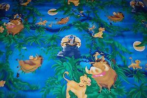 1 Yard Vintage Lion King Disney Spring Industries 100% Cotton Fabric *9293